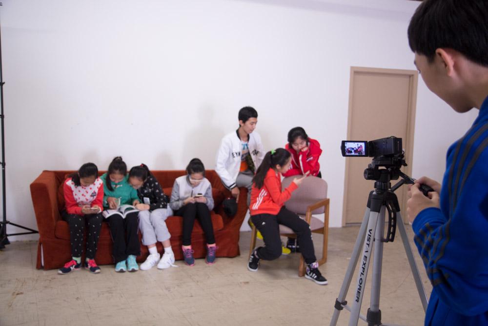 Filming inside