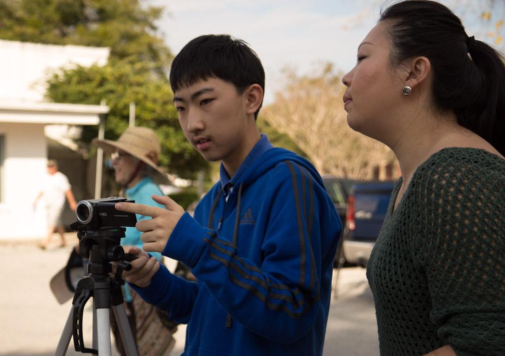 Instruction in filmmaking via our wonderful translators!