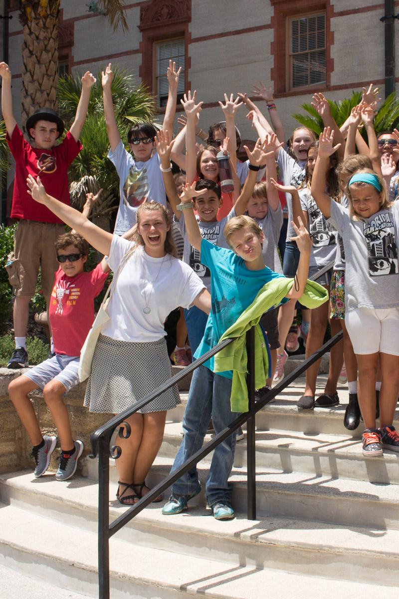 FFA summer camp students having fun!